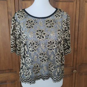 2/25 Shair Aide II.Women's Tops Floral Lace Size L